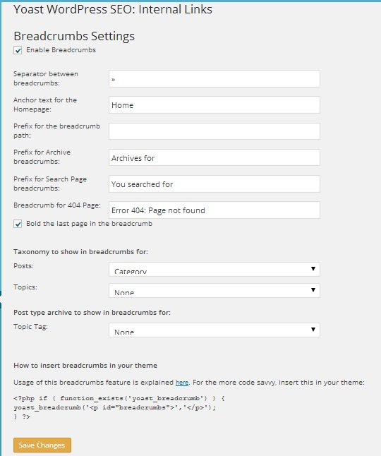 wordpress seo yoast breadcrumbs settings
